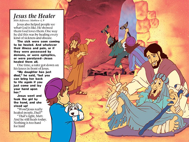 Jesus Coloring Book - Jesus Healer